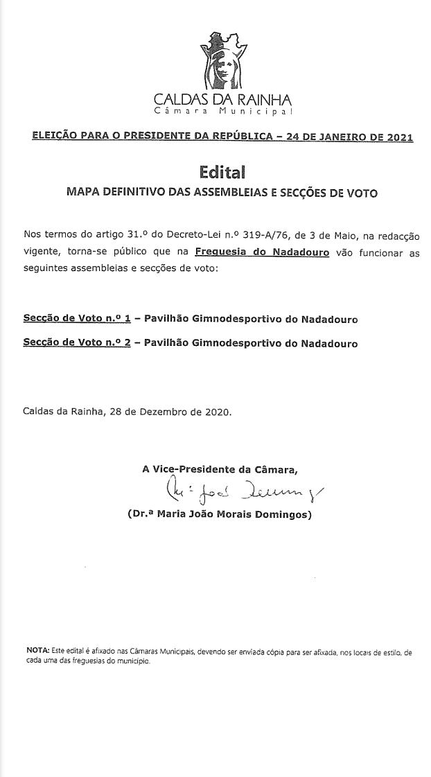 ELEIÇÕES PRESIDENCIAIS 2021 - 24 DE JANEIRO